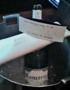 Wine merchandising at Dinner by Heston