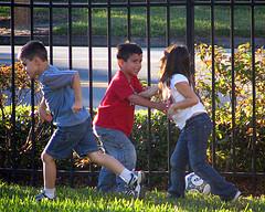Playground fighting