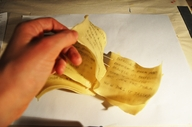 """""""Book made from pasta"""""""