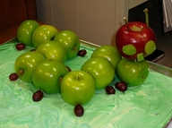 """Hungry Caterpillar made of fruit"""