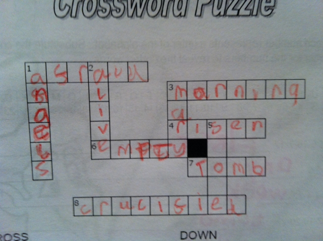 """kids easter crossword"""