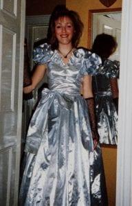 """""""silver lame Ballgown"""""""