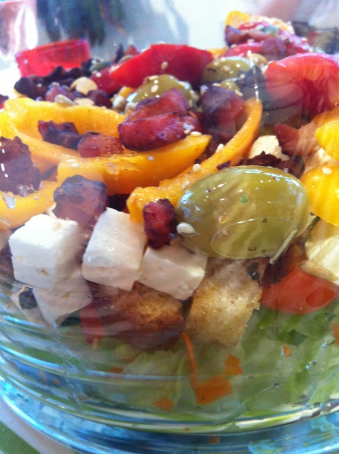 """""""cheese and bacon salad recipe"""""""