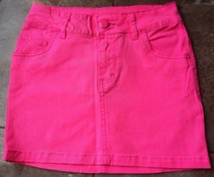 """pink mini skirt"""
