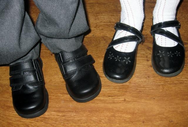 """new school shoes"""