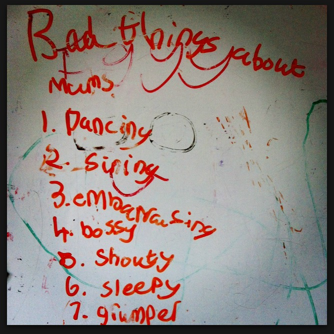 Wot so Funee? Bad things about Mums…