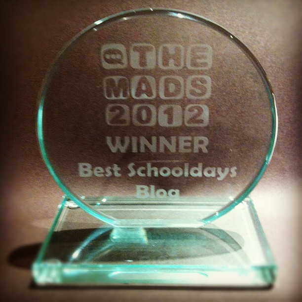 MAD Blog Awards Trophy