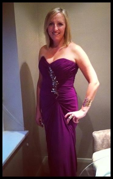 """"""" Designer Badgley Mischka Evening Gown"""""""