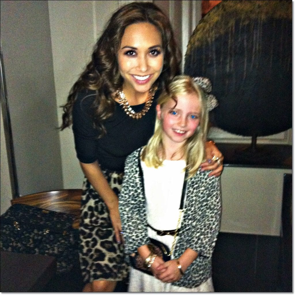 GG gets a MAD Award from Myleene Klass. And a top night on the town…