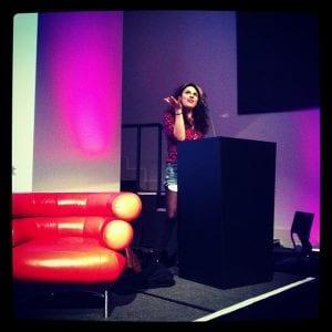 """""""caitlin moran at Mumsnet Blogfest 2012"""""""