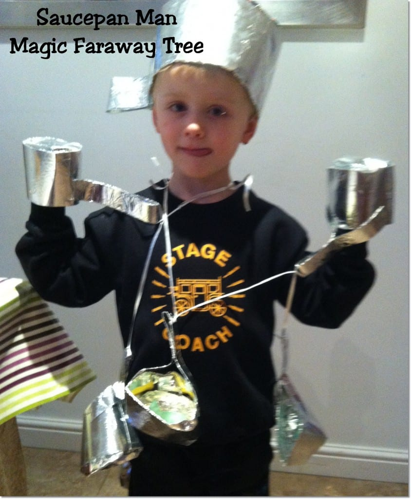 World Book Day ideas: Saucepan Man from the Magic Faraway Tree by Enid Blyton