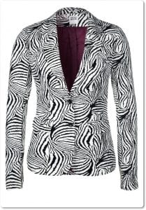 """zebra print jacket at Zalando"""