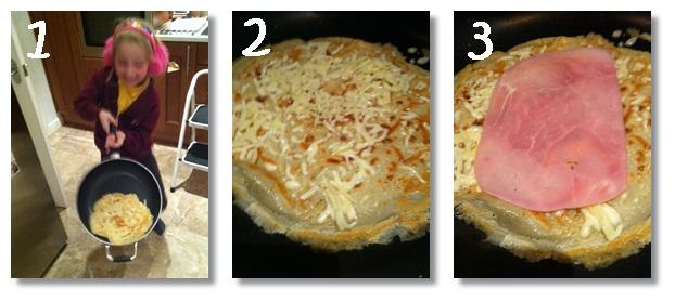 """""""making pancakes with kids"""""""