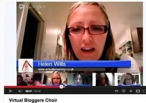 """London Gospel Community Choir on Google Plus hangout"""