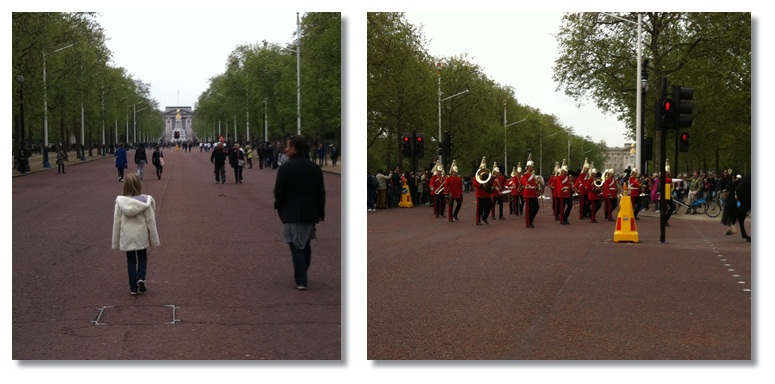 """London with kids: changing of the guard London Mall"""