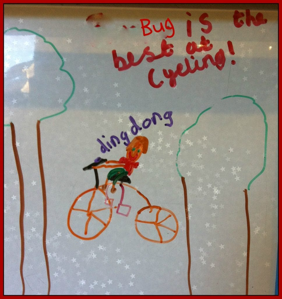 Oh s*!t: the day the Bug learned to ride a bike