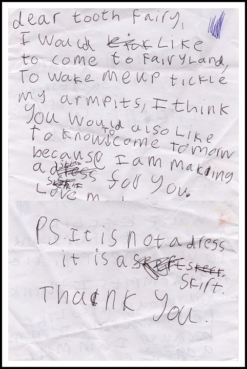 """tooth fairy letter"""