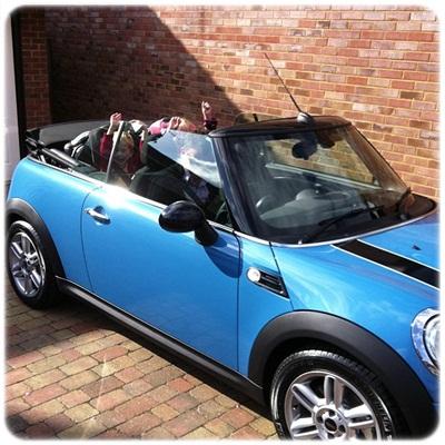 """""""mini cooper cabriolet kite blue"""""""