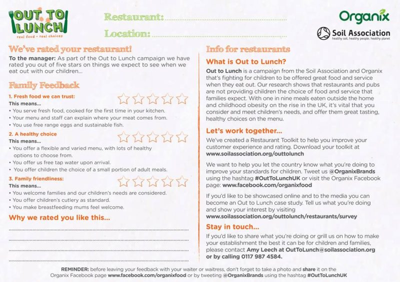 """download the Out To Lunch restaurant review slip if you want better kid meals"""