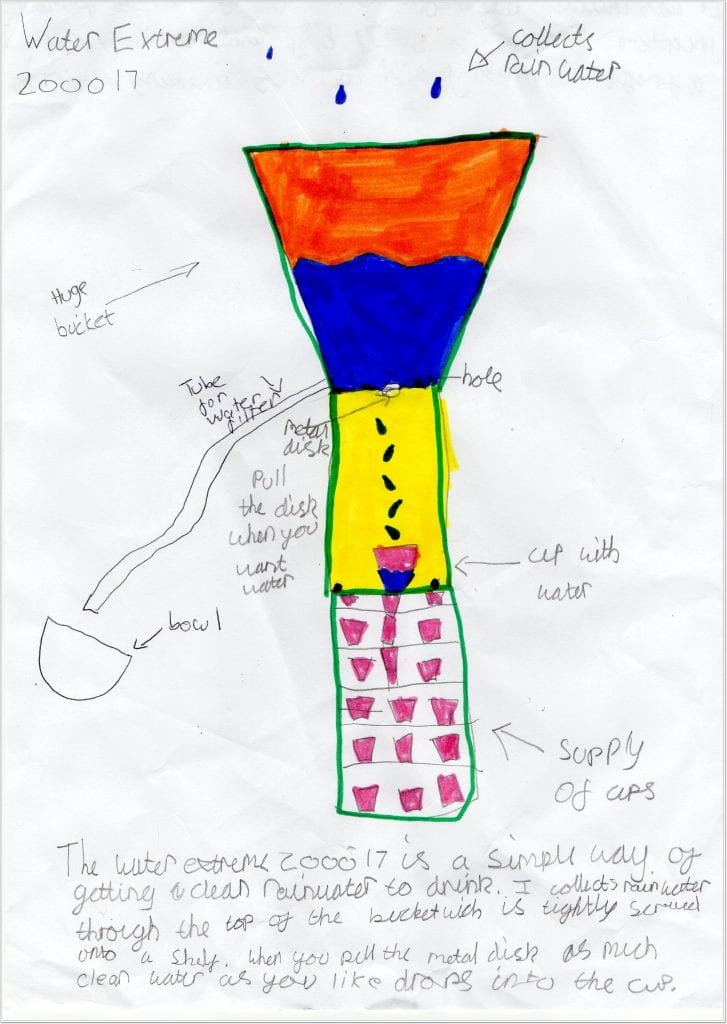 Child inventions preserving water