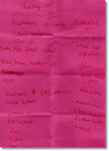 """Science shopping list"""