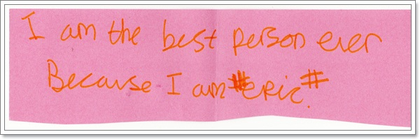 """""""Passing notes to myself!"""""""