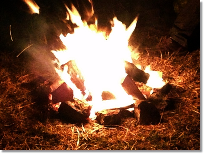 A campfire is a must when camping with kids