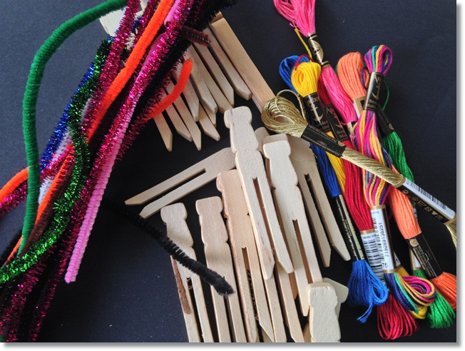Things you need to make worry dolls