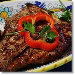 BBQ Steak with herbs recipe