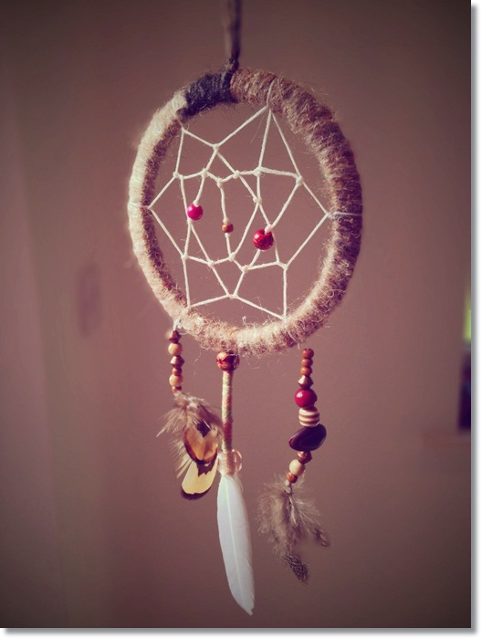 Home-crafted Dreamcatcher for the DHL Chinese Whispers Crafty Blogger campaign