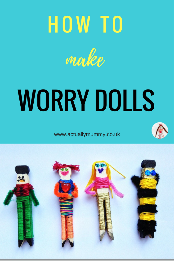 Kids often find it hard to get to sleep at night, or show signs of anxiety. Worry dolls are a fabulous way of helping children unwind at the end of a day, and offload their problems till morning, helping them to sleep. Even better, they're really easy to make, and a fun craft activity for your kids. Click through to find out how.