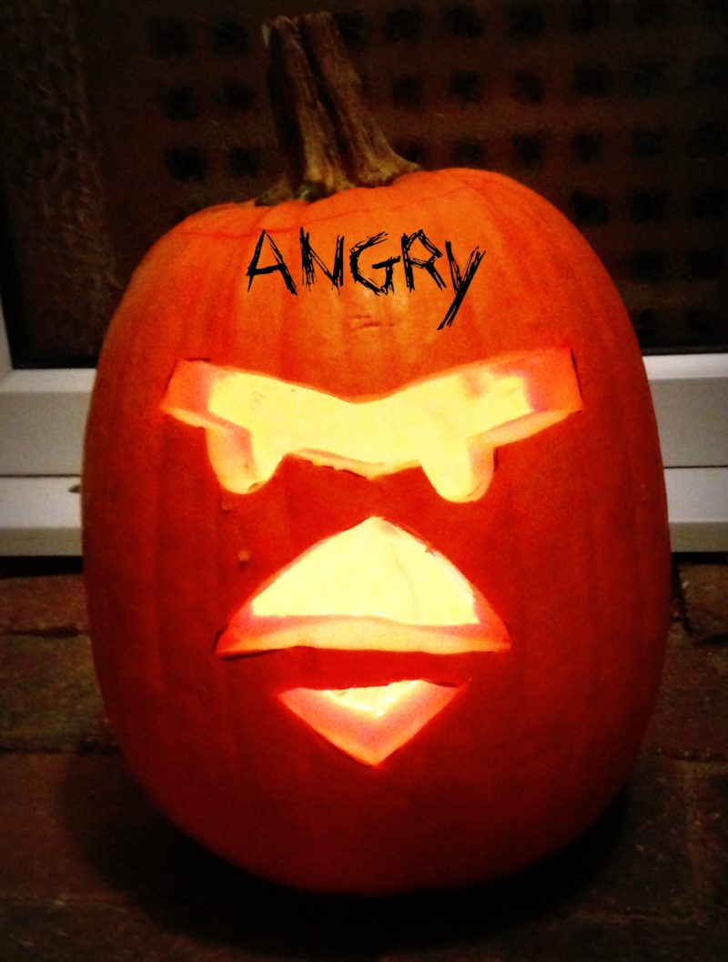 Halloween angry birds pumpkin carving actually