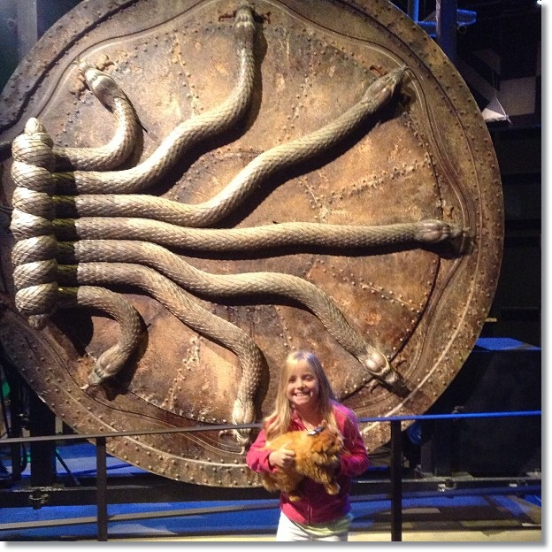 Snake door in Harry Potter's Chamber of Secrets