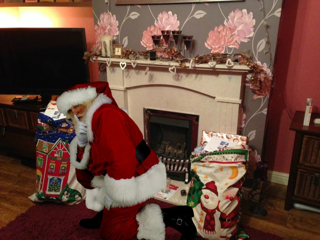 Santa came to our house!
