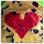 Valentine's gifts: Heart shaped fudge slabs!