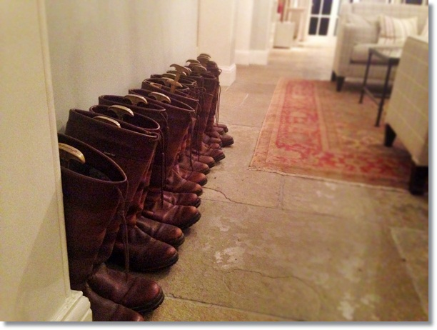 Lovely touches at Congham Hall Hotel - borrow a pair of their boots!