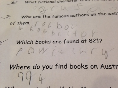Quizzes are a good way of getting children to practice their writing