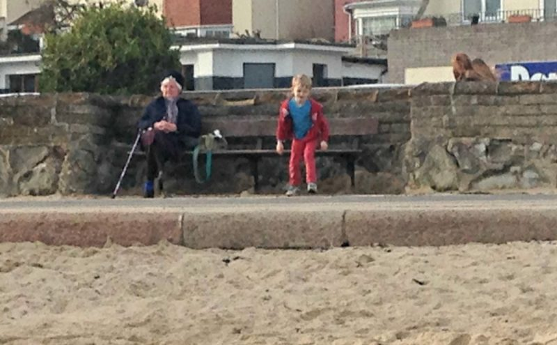 Strange goings on at Felixstowe beach promenade