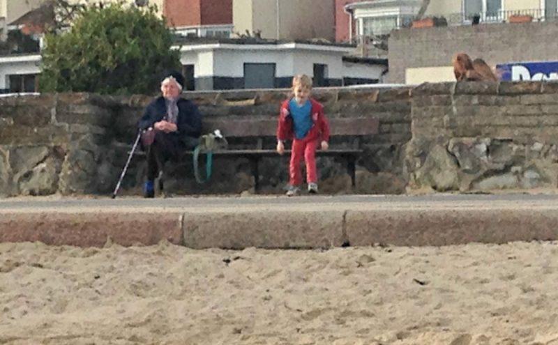 Strange goings on at Felixstowe beach promenade