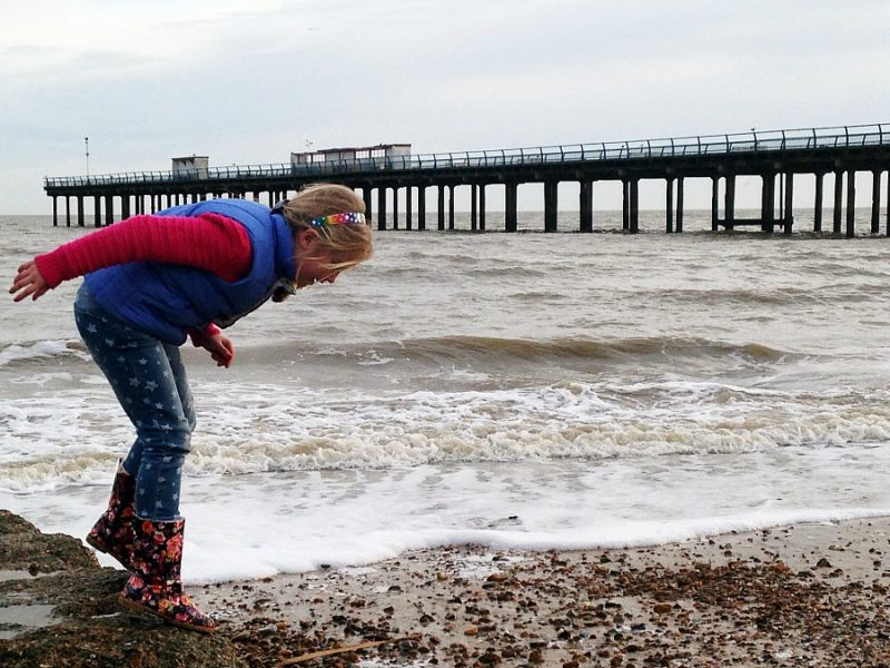 Simple fun: Felixstowe Beach
