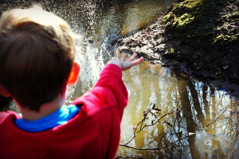 Even a muddy stream looks better if you throw stones at it!