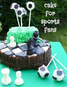 Sporty cake for the Sport Relief Great Bloggers Bake Off