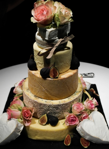 Wedding cake - If cake's not your thing, try cheese!