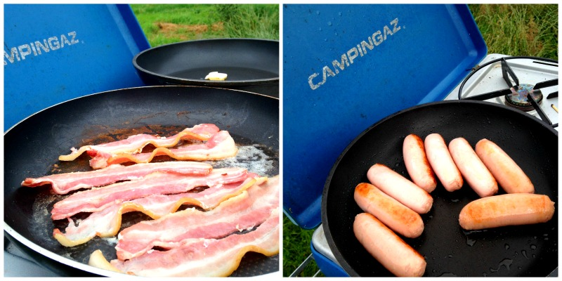 A cooked breakfast is exactly what you need when you're camping!