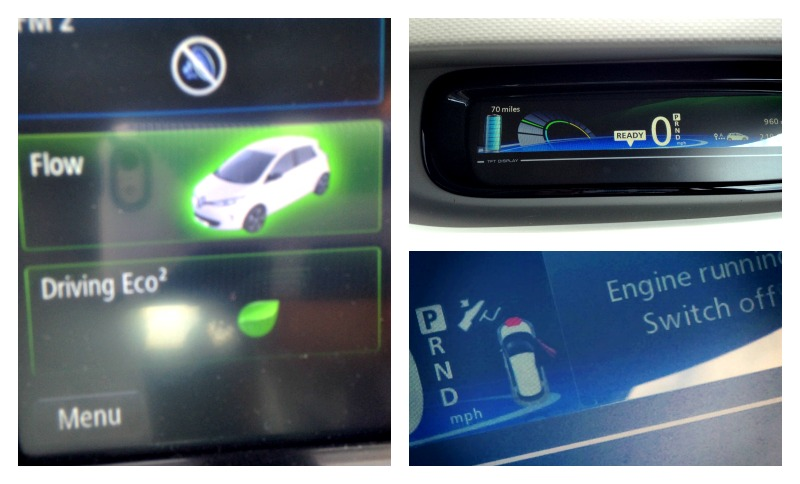 Renault Zoe dashboard - driving an electric car