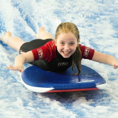 The happiest girl in the world on the Flowrider!