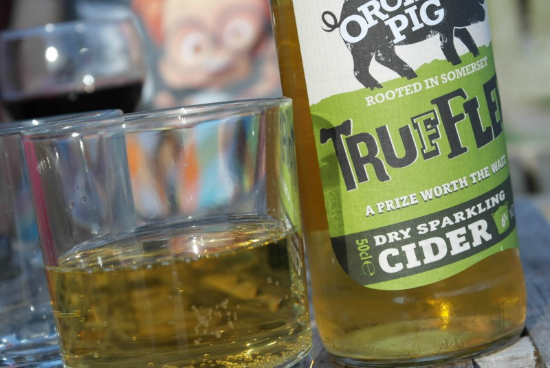 Orchard Pig cider - the perfect accompaniment to an evening at Somerset Yurts