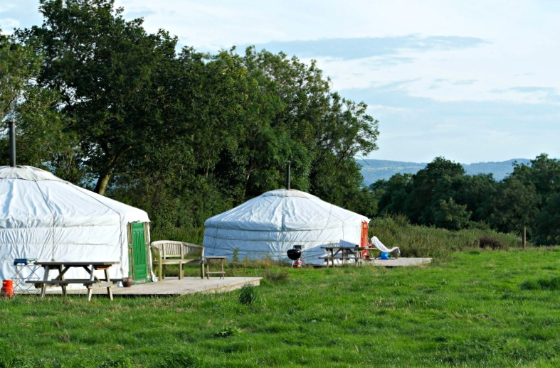 Somerset Yurts have only 4 yurts to a field, so there's plenty of space and privacy