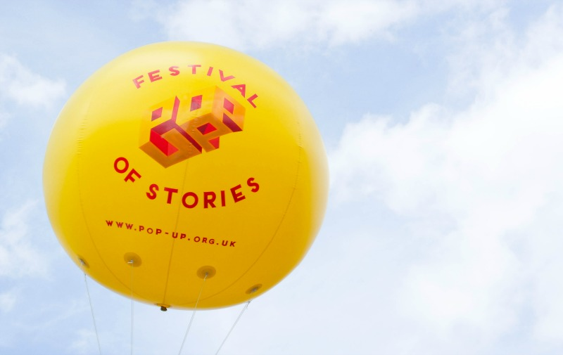 A pop-up book festival on our electric car tour of London