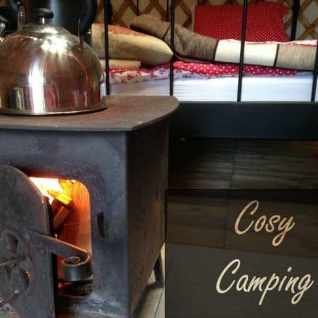 Camping is cosy at Somerset Yurts